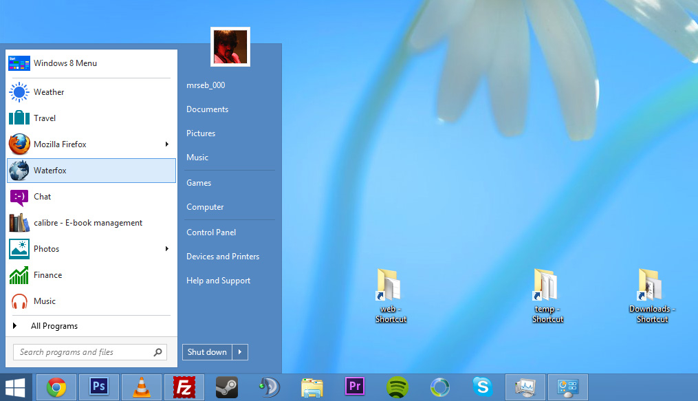 startmeny windows 8